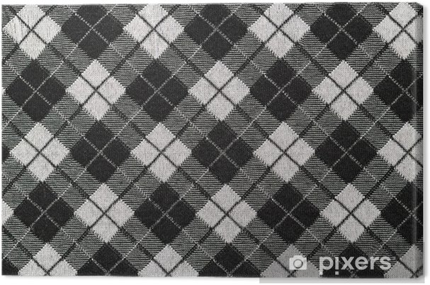 Black And White Checkered Fabric For Background Canvas Print