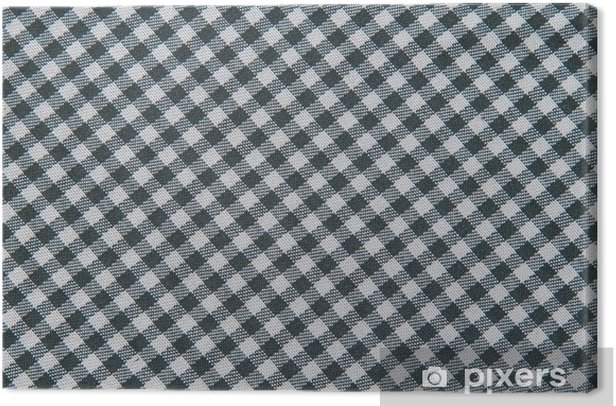 Black And White Tablecloth Background Plaid Fabric Texture Canvas