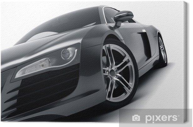 Black Sports Car Canvas Print - Destinations