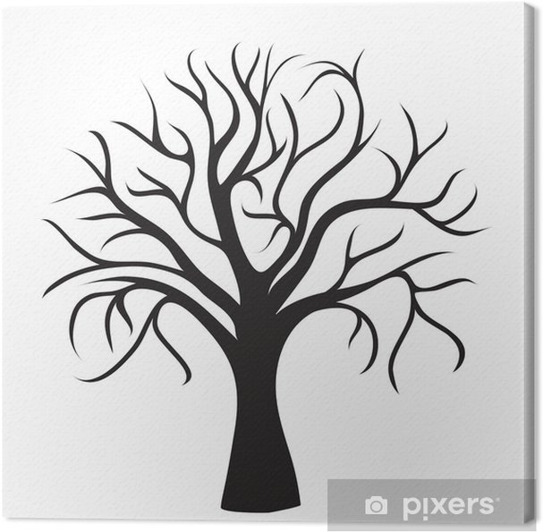 black tree without leaves Canvas Print • Pixers® • We live ...