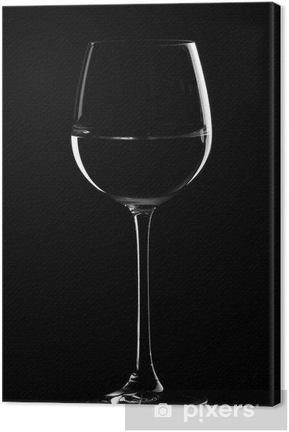 black wine glasses Canvas Print - Destinations