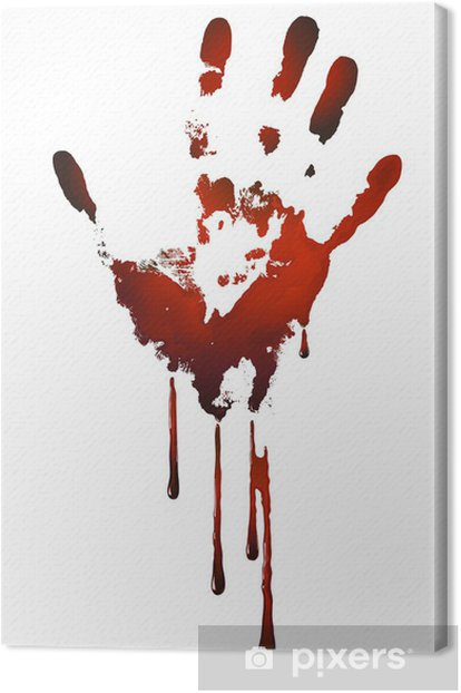 bloody handprint Canvas Print -