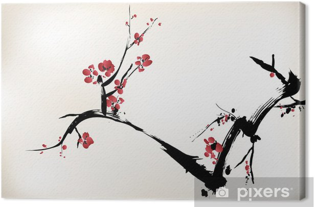 blossom painting Canvas Print - Styles