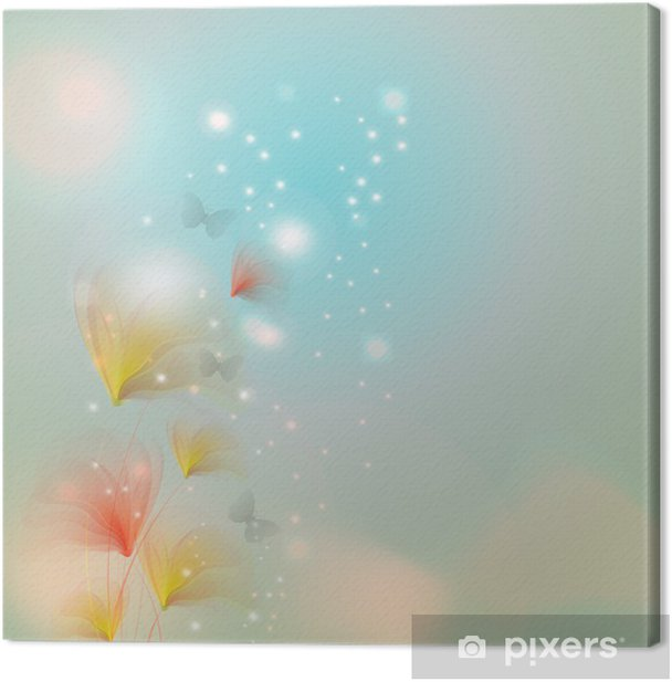 Blossom with bokeh effect Canvas Print - Seasons