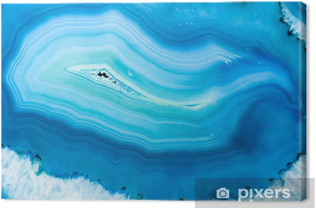 Blue Agate Canvas Print - iStaging