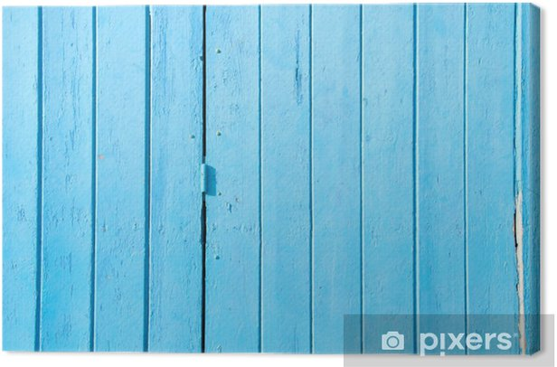 Blue boards Canvas Print - Themes
