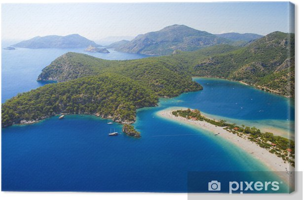 Blue lagoon of Oludeniz in Turkey Canvas Print - Holidays