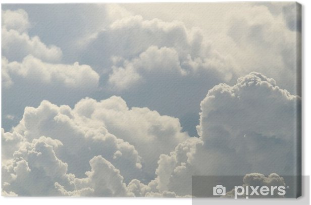 blue sky and beautiful clouds Canvas Print - Skies