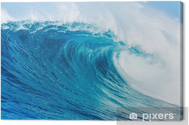 Blue wave Canvas Print - Beach and tropics