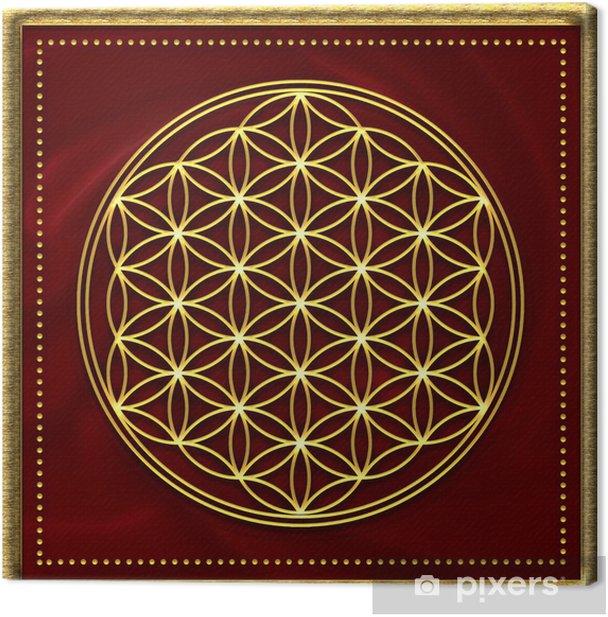 Blume des Lebens Gold Canvas Print - Themes