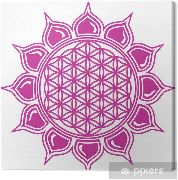 Blume des Lebens / Lotus Blüte Canvas Print - Wall decals