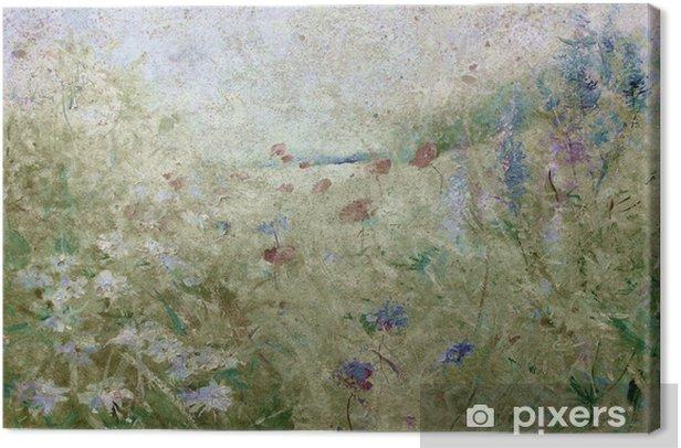 blumenwiese sommer grunge Canvas Print - Flowers