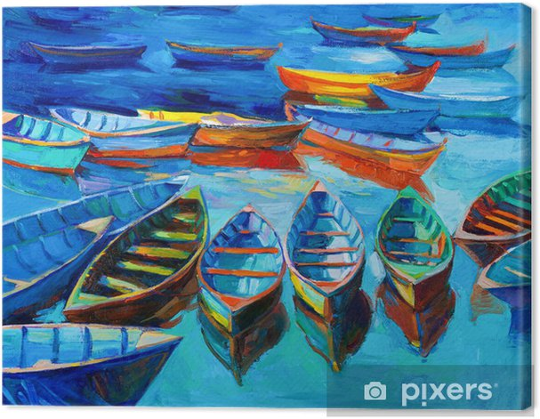 Boats Canvas Print - iStaging