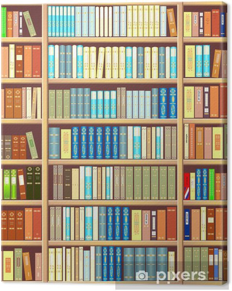 Bookcase full of books Canvas Print - Library