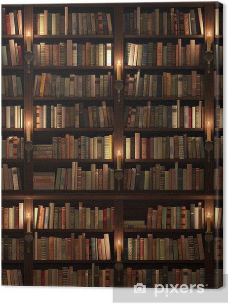 Bookshelf. Seamless texture (vertically and horizontally) Canvas Print • Pixers® • We live to change