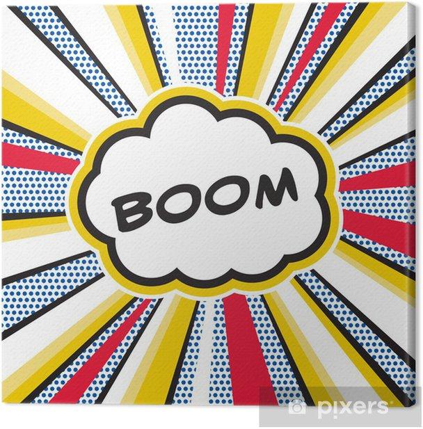 Boom Pop Art Canvas Print - Themes