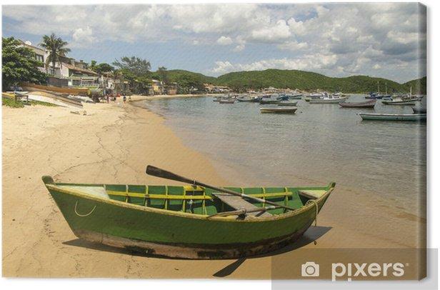 Boot am Strand von Buzios, Brasilien Canvas Print - America