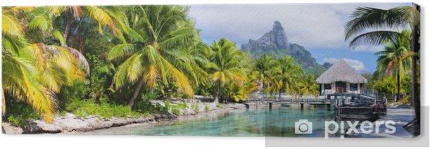 Bora Bora panorama Canvas Print - Themes