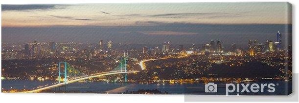 Bosphorus Bridge at the night 8 Canvas Print - Destinations