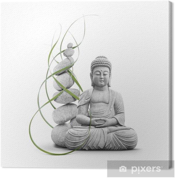 Bouddha et Bien-être Canvas Print - Wall decals