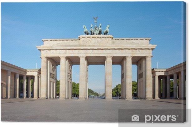 Brandenburg gate, blue sky, Berlin, Germany Canvas Print - Germany