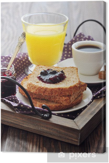 Breakfast with toast Canvas Print - Themes