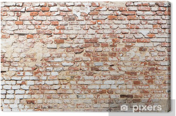 brick wall with vintage look Canvas Print - Themes