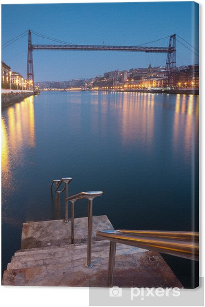 Bridge of Bizkaia, Getzo, Bizkaia, Basque Country, Spain Canvas Print - Themes