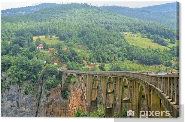 Bridge Over The Tara River In Montenegro Canvas Print - Europe