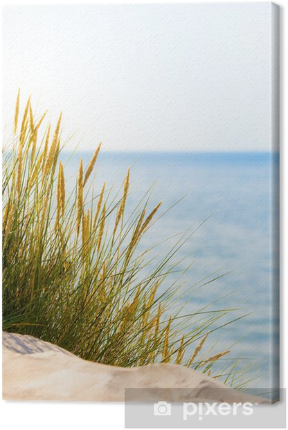Bright Beach Scene Canvas Print - Sea and ocean