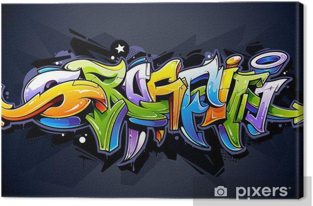 Bright graffiti lettering Canvas Print - Themes