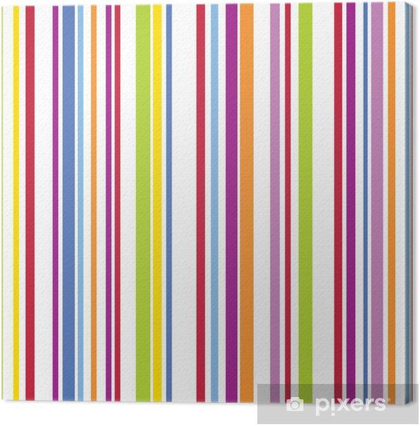 Bright stripe pattern Canvas Print - Themes