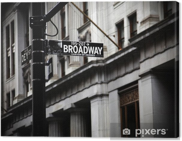 Broadway sign Canvas Print - Themes