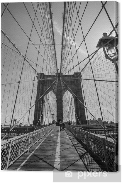 Brooklyn Bridge black and white Canvas Print -