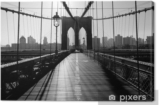 Brooklyn Bridge, Manhattan, New York City, USA Canvas Print -