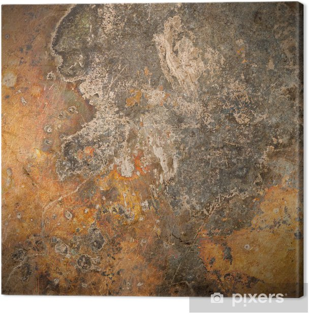 brown old rust metal plate background Canvas Print - Styles