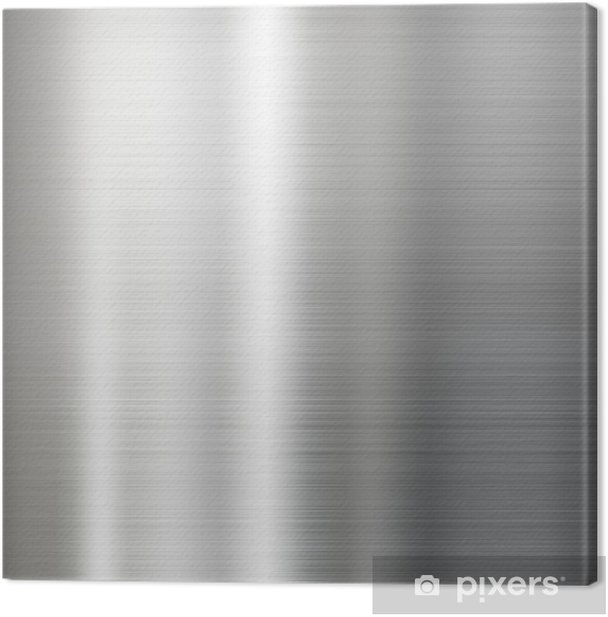 brushed metal texture background Canvas Print - Styles
