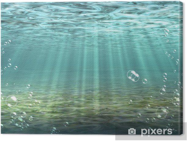 """bubble, bottom, seabed, """"under water"""", underwater, water Canvas Print - Styles"""