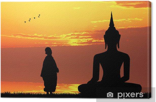 Buddha at sunset Canvas Print - Themes
