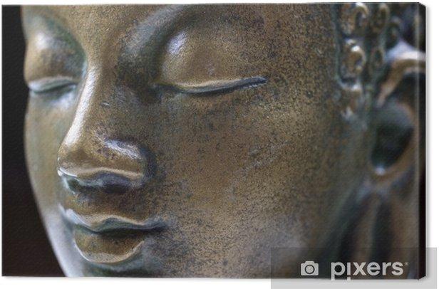 Buddha close up portrait Canvas Print - Themes
