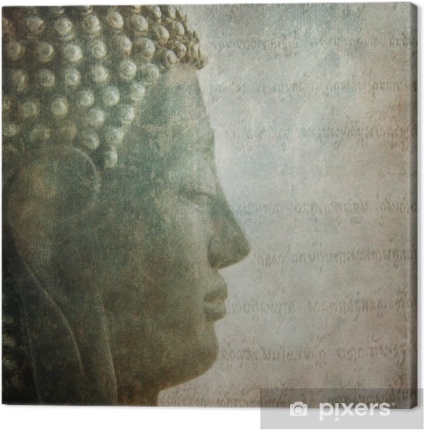 Buddha grunge style Background Canvas Print - Themes