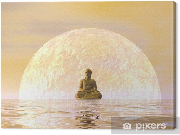 Buddha meditation - 3D render Canvas Print - Styles