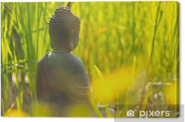 Buddha Meditation am Wasser Canvas Print - Themes
