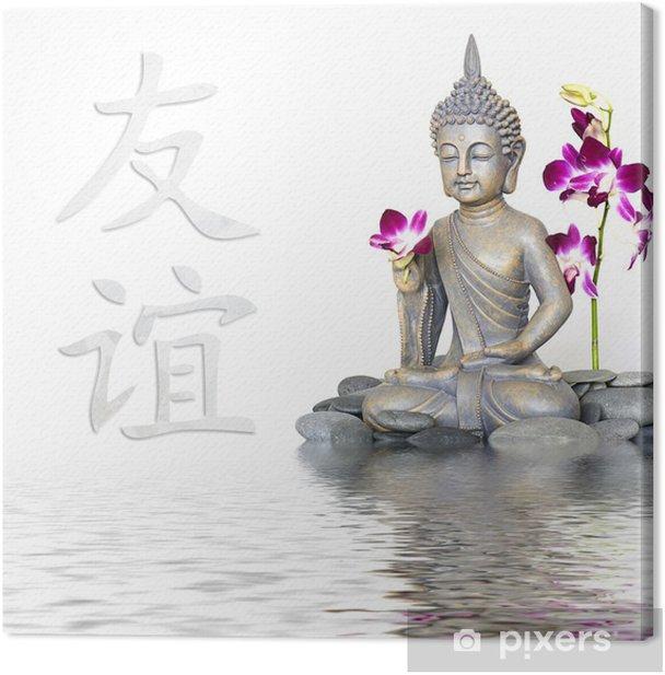 Buddha und Zeichen für Freundschaft Canvas Print - Themes