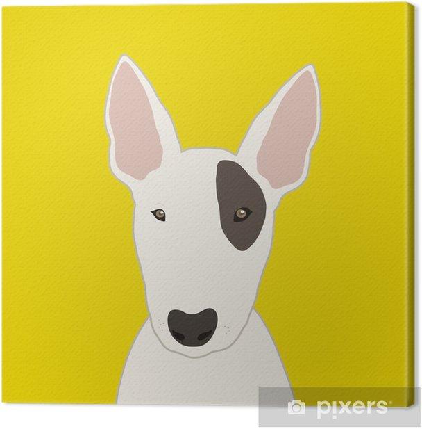 Bull Terrier Canvas Print - Mammals