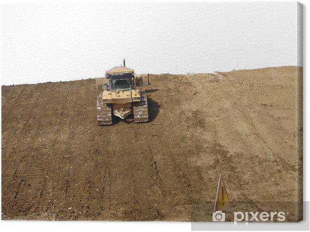 bulldozer Canvas Print - Machinery