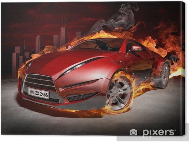 Burnout Canvas Print -
