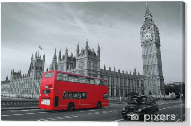 Bus in London Canvas Print -