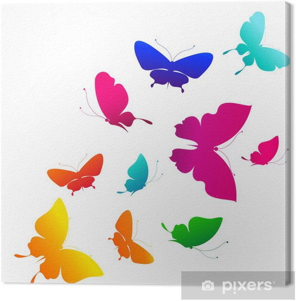 butterflies design Canvas Print - Backgrounds