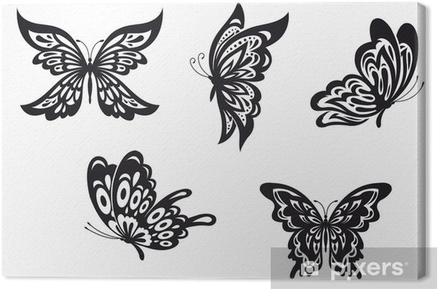 Butterfly Tattoos Canvas Print